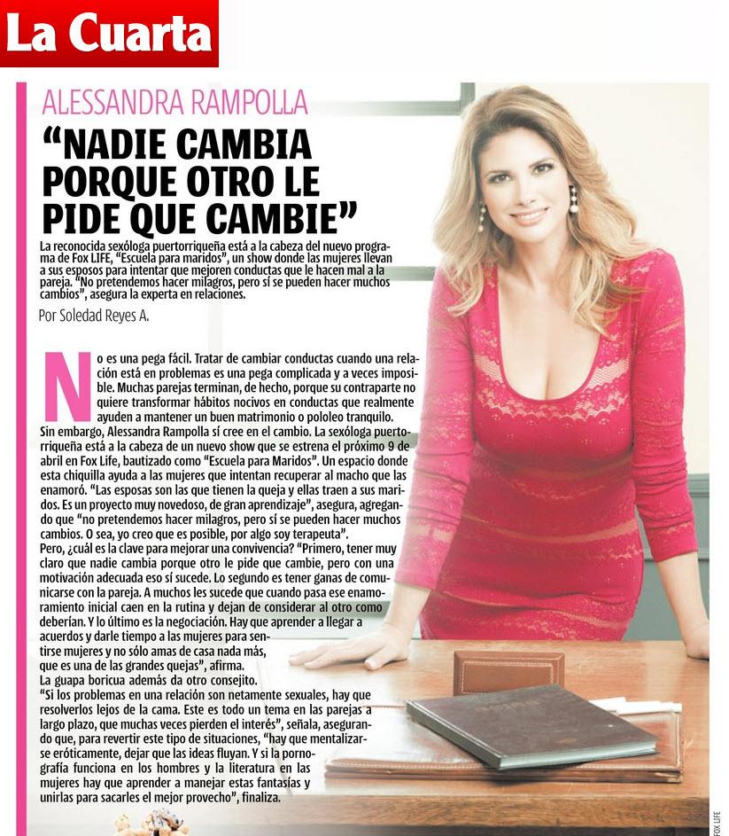 Entrevista a Alessandra en La Cuarta de Chile – Universo Alessandra