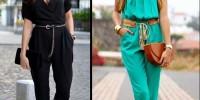 Si vas a elegir un jumpsuit, la elección más segura es uno liso para que estilice tu figura. Ph. Pinterest