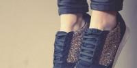 calzado deportivo con glitter